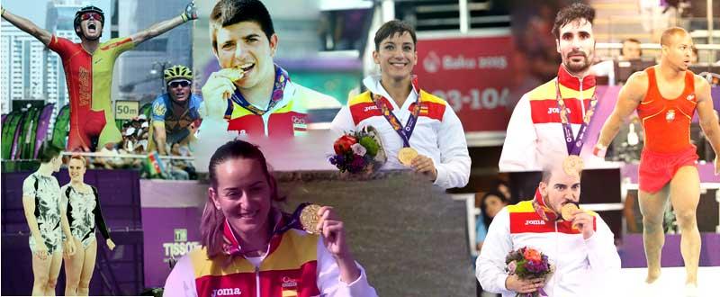 Los medallistas de oro españoles en los Juegos Europeos de Baku. Fuente: AD