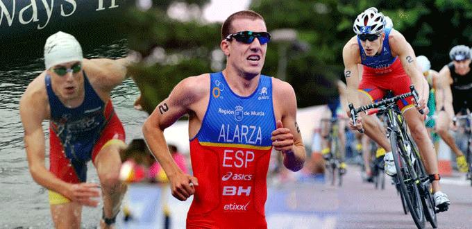 Fernando Alarza en las disciplinas de bicicleta, carrera a pie y natación. Fuente: AD