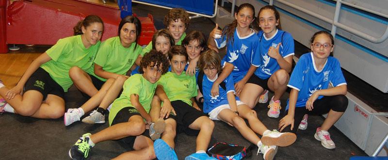 Dos de los equipos participantes en la Olimpiada Escolar. Fuente: AD