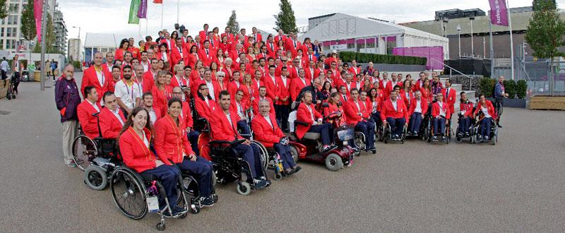 La delegación española para los Juegos Paralímpicos de Londres 2012. Fuente: CPE