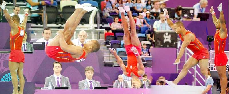 El gimnasta español, Ray Zapata, durante la final de los Juegos Europeos de Baku. Fuente: COE