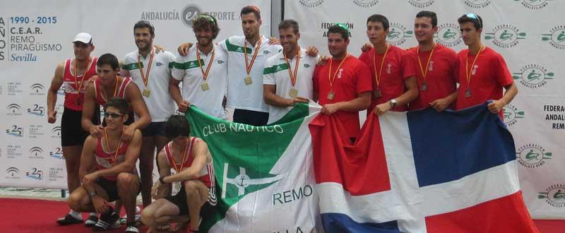 4 sin timonel del Naútico. Fuente: Mariló Carvajal / Avance Deportivo