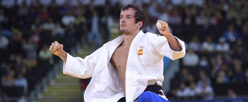 El judoca vitoriano, Sugoi Uriarte, tiene ya casi en el bolsillo el billete olímpico. Fuente: AD