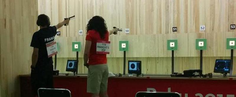 Sonia Franquet durante la competición en Baku. Fuente: AD
