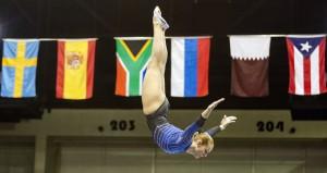 Claudia Prat en un salto. Fuente: AD