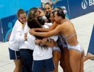 Las chicas de la sincro se bañan en plata