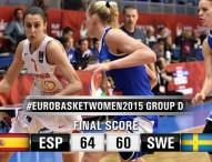 España invicta en el Eurobasket tras ganar a Suecia 64-60