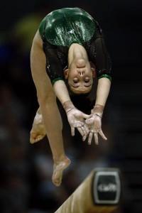 La gimnasta Ana Pérez en el campeonato de Europa. Fuente: IMD