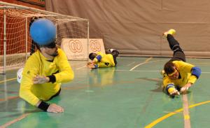 Un partido de goalball. Fuente: ONCE