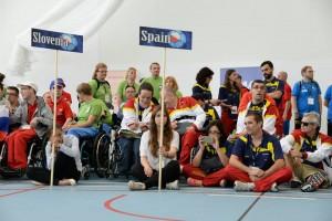 Selección española de boccia en Polonia. Fuente: Bisfed