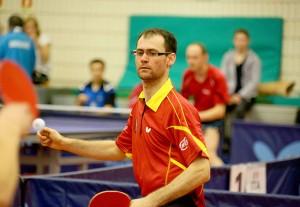 La selección española de tenis de mesa durante el torneo en Barcelona. Fuente: Rfetm