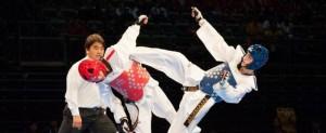 El taekwondista español, Jesús Tortosa, durante un combate. Fuente: fetaekwondo