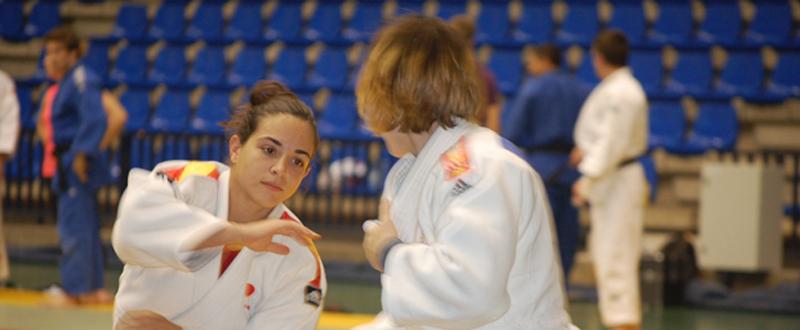 La judoka cordobesa, Julia Figueroa, durante un entrenamiento. Fuente: AD