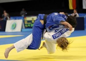 La judoca Laura Gómez. Fuente: AD