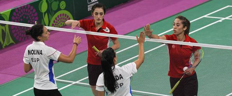 La pareja española de bádminton Laura Molina-Haidee Ojeda. Fuente: Badminton Europe