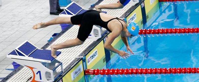 La nadadora Marina Castro en Baku. Fuente: COE