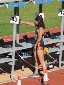 Marta García-Miguel, en tiro. Fuente: AD