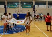 Se alza la Bandera Olímpica en el Pabellón Moisés Ruiz de Almería