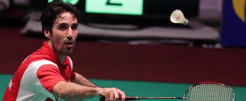 El jugador de bádminton, Pablo Abián, durante un encuentro. Fuente: badminton europe