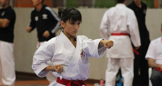 La karateca Sandra Sánchez, campeona de Europa. Fuente: Federación Canaria de Karate