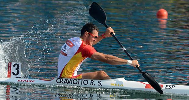 El piragüista Saúl Craviotto en los Juegos de Londres. Fuente: RFEP