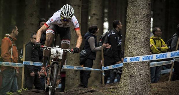 El 'biker' español, Sergio Mantecón, en una prueba de mountain bike. Fuente: AD