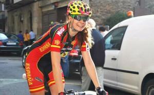 La ciclista riojana.