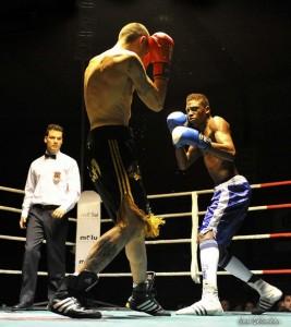 Sissokho en un combate. Fuente: Jose Salvador