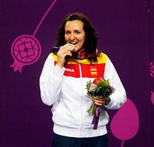 Sonia Franquet con la plata. Fuente: COE