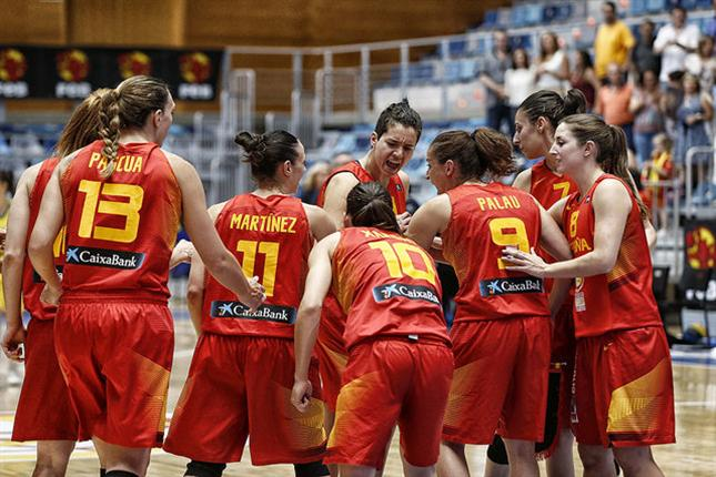 Selección femenina de baloncesto. Fuente: Feb.es