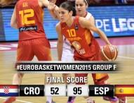 España arrasa a Croacia 52-95 en el Eurobasket