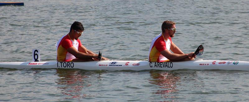 Los palistas gallegos Cristian Toro y Carlos Arévalo. Fuente: RFEP