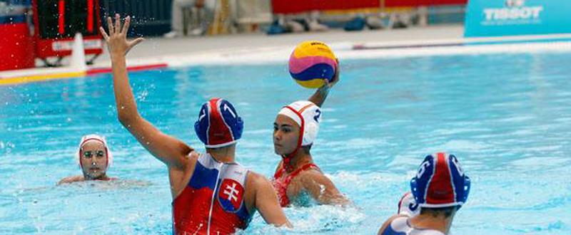 La selección española de waterpolo durante un partido. Fuente: COE