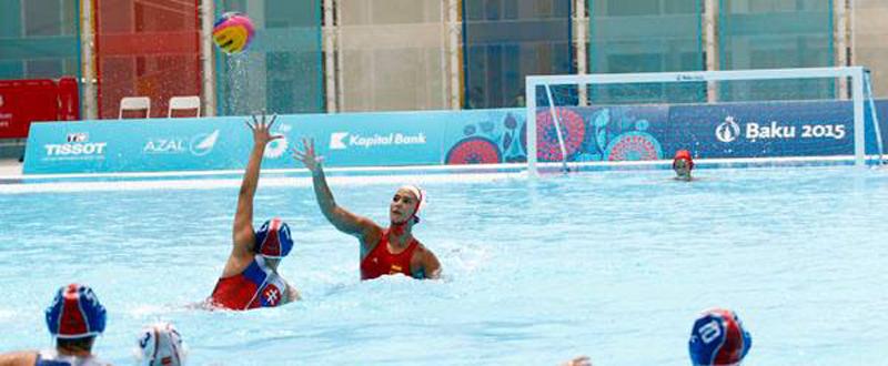 La selección española de waterpolo golea a Francia. Fuente: COE