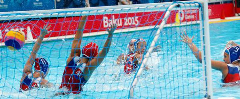 La selección española de waterpolo, a la final en Baku. Fuente: COE