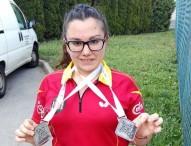 Pilar González, doble medalla de plata en Croacia