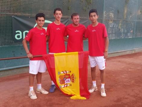 Los representantes del equipo español en la Copa de Europa.