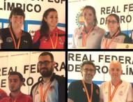 Paula Grande, Javi López, Mercedes Soto y Salvador Ramos,  campeones de España