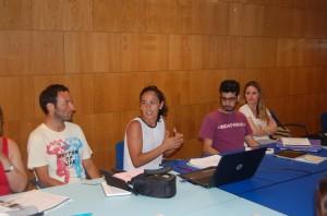 Ana Mingorance (en el centro) es especialista en derecho deportivo.