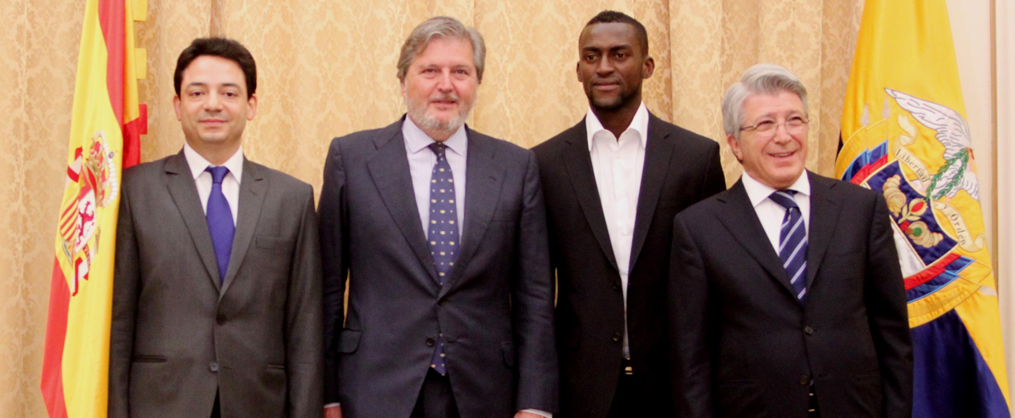 Santiago Ávila, Iñigo Méndez de Vigo, Jackson Martínez y Enrique Cerezo. Fuente: CSD.