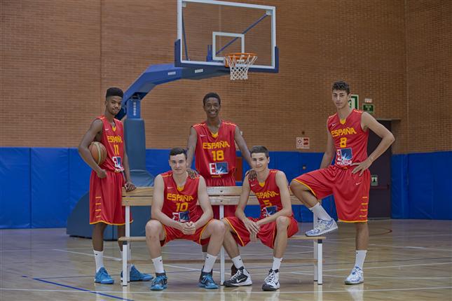 Aleros de la selección masculina de baloncesto u16. Fuente: Feb