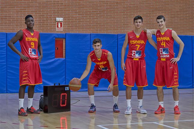 Bases de la selección masculina de baloncesto u16. Fuente: Feb