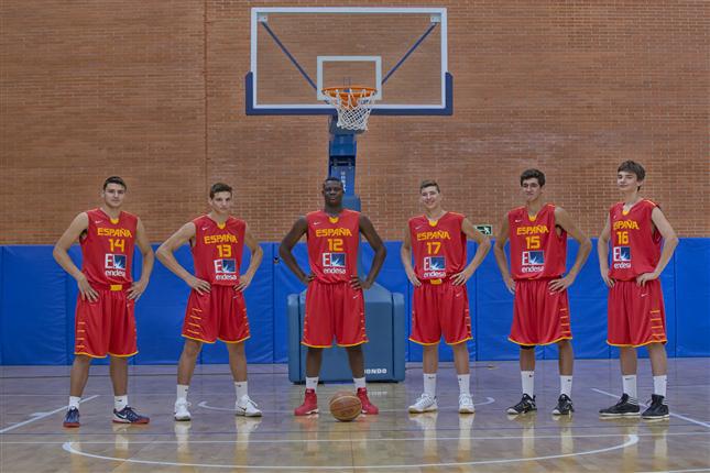 Pívots de la selección masculina de baloncesto u16. Fuente: Feb