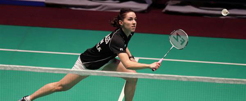 La jugadora de bádminton, Beatriz Corrales, durante un partido. Fuente: Badminton Europe