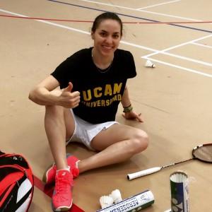 Beatriz Corrales tras un entrenamiento.
