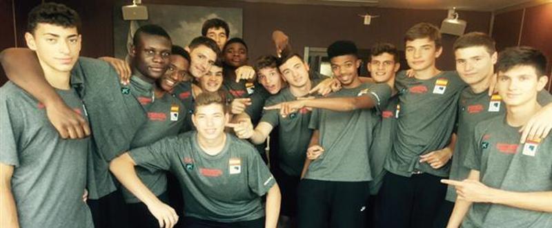 Selección española de baloncesto masculina U16. Fuente: Feb