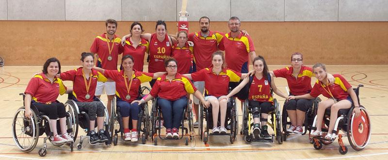 La selección española femenina de baloncesto en silla de ruedas. Fuente: Feddf