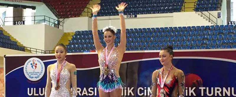 Carolina Rodríguez en el podio. Fuente: COE