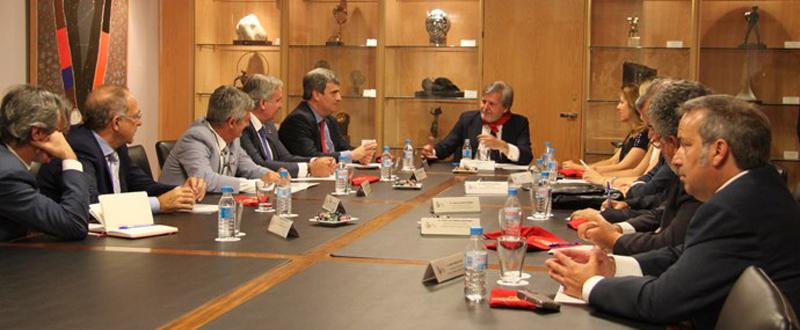 Méndez de Vigo con presidentes de federaciones. Fuente: CSD