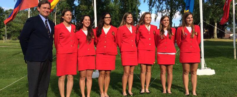 El equipo español femenino de golf, 3º en el Campeonato de Europa. Fuente: Rfegolf